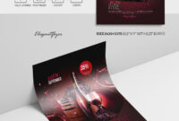 Wine Restaurant – Psd Flyer Template intended for Wine Brochure Template