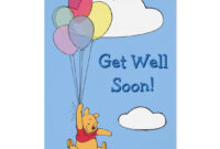 Winnie The Pooh And Balloons | Get Well Card | Zazzle with Get Well Card Template
