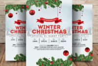 Winter Wonderland Christmas – Psd Flyer Template – Free Psd pertaining to Christmas Brochure Templates Free