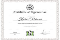 Women Football Appreciation Certificate Template With Regard To Football Certificate Template