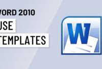 Word 2010: Using Templates throughout Word 2010 Template Location