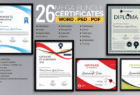 Word Certificate Template – 53+ Free Download Samples within Professional Certificate Templates For Word