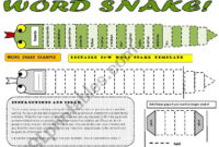 Word Snake – Fun Vocabulary Activity With Editable B&w regarding Vocabulary Words Worksheet Template