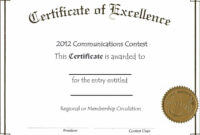 Word Template Certificate Notepad Writing A For Microsoft intended for Certificate Of Excellence Template Word
