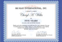 Work Anniversary Certificate Templates | Free Download in Anniversary Certificate Template Free