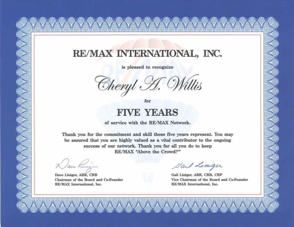 Work Anniversary Certificate Templates | Free Download in Anniversary Certificate Template Free