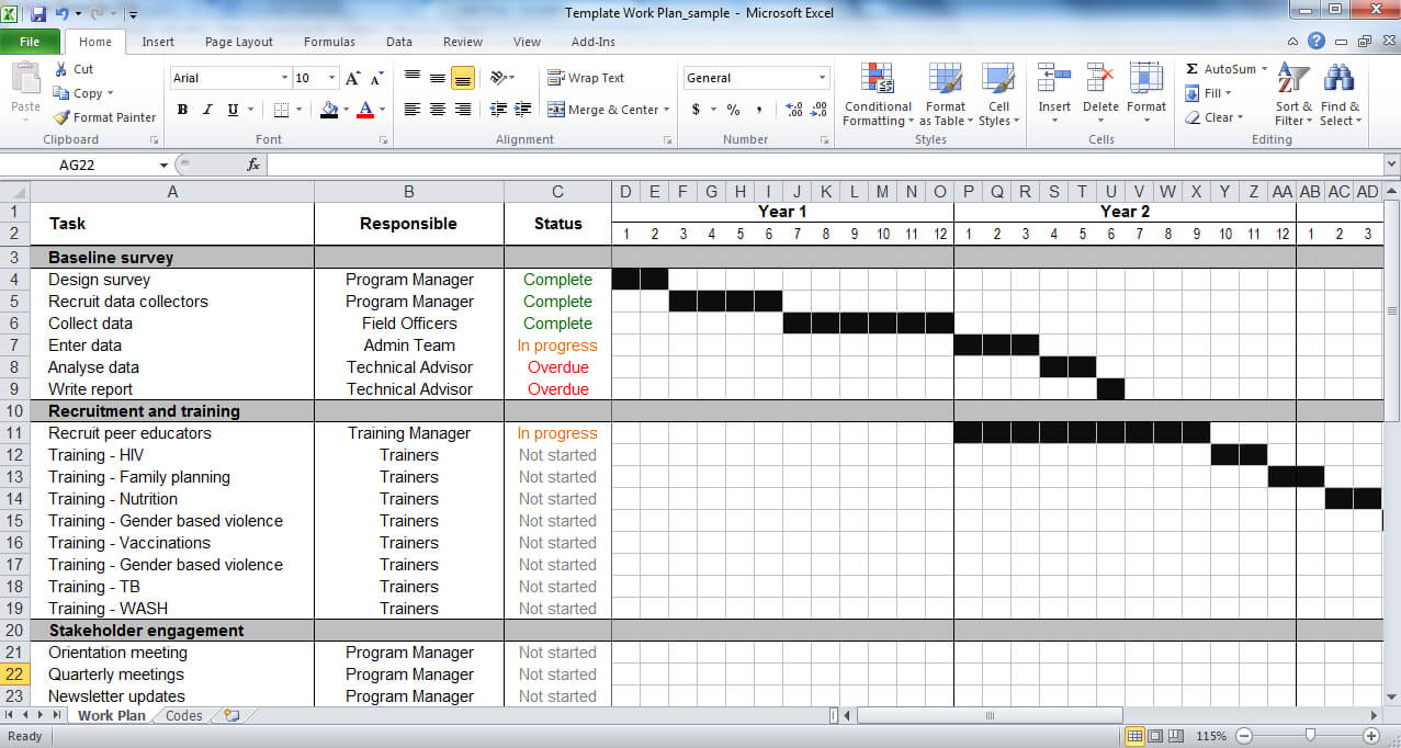 Work Plan Template | Tools4Dev Within Work Plan Template Word