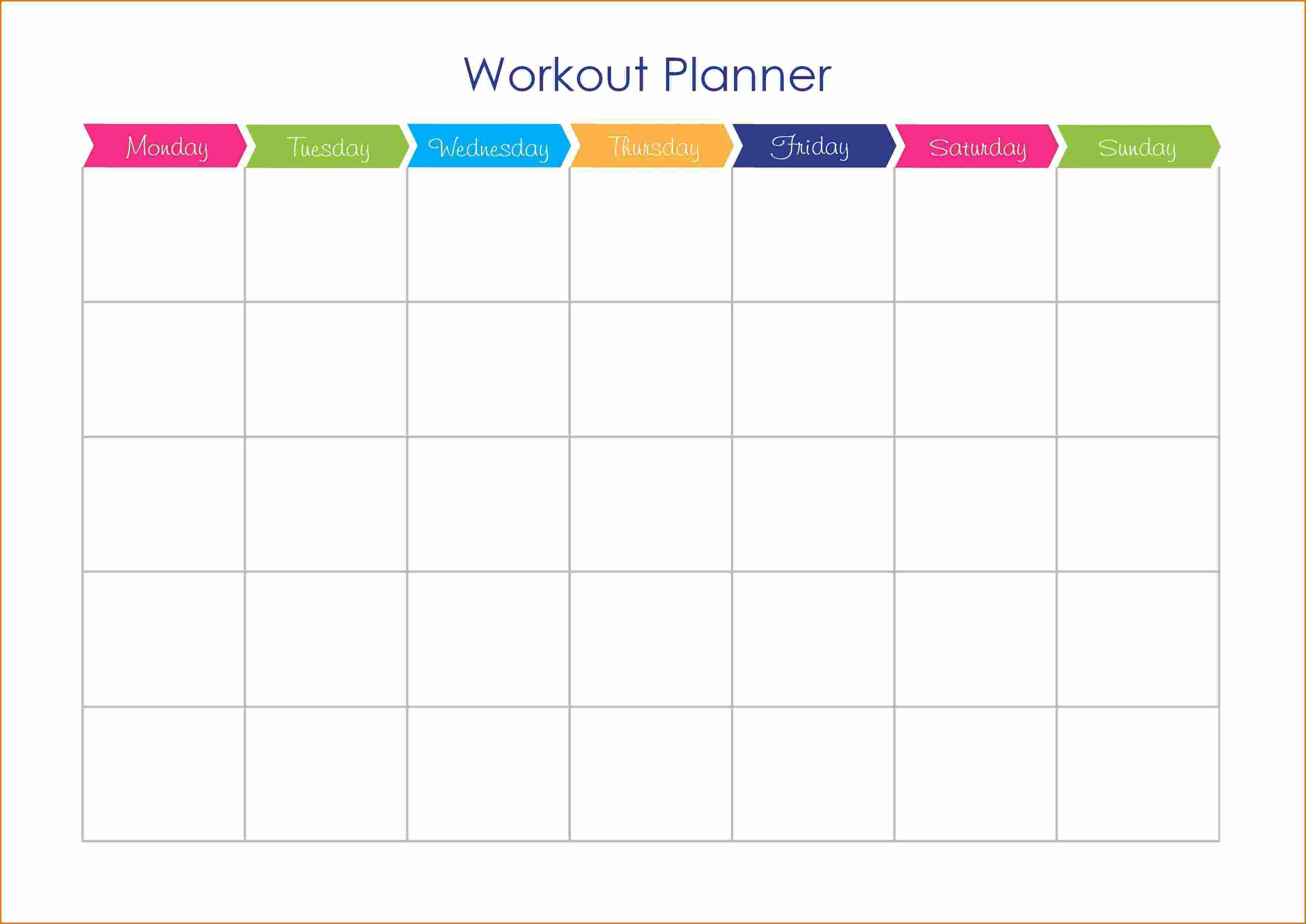 Workout Plan Calendar Template Workout And Yoga Pics in Blank Workout Schedule Template