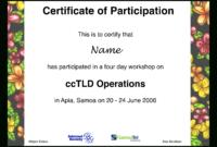 Workshop Participation Certificate   Templates At with Certificate Of Participation In Workshop Template