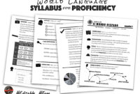 World Language Syllabus For Proficiency   Creative Language pertaining to Blank Syllabus Template