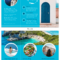World Travel Tri Fold Brochure Template - Venngage in Island Brochure Template