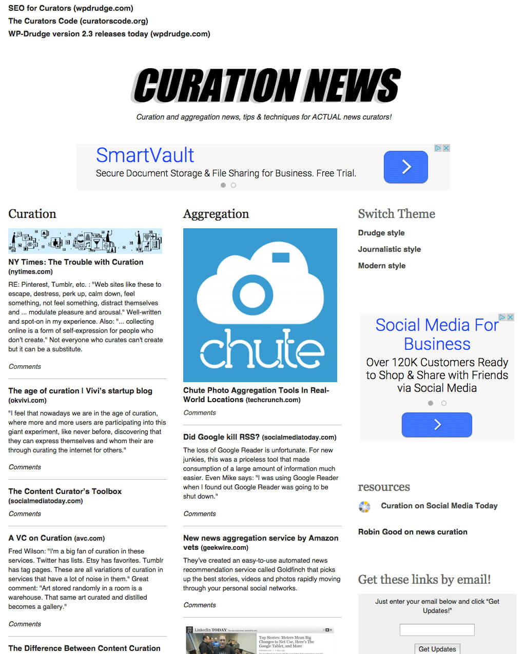 Wp-Drudge Curation And Aggregation Theme in Drudge Report Template