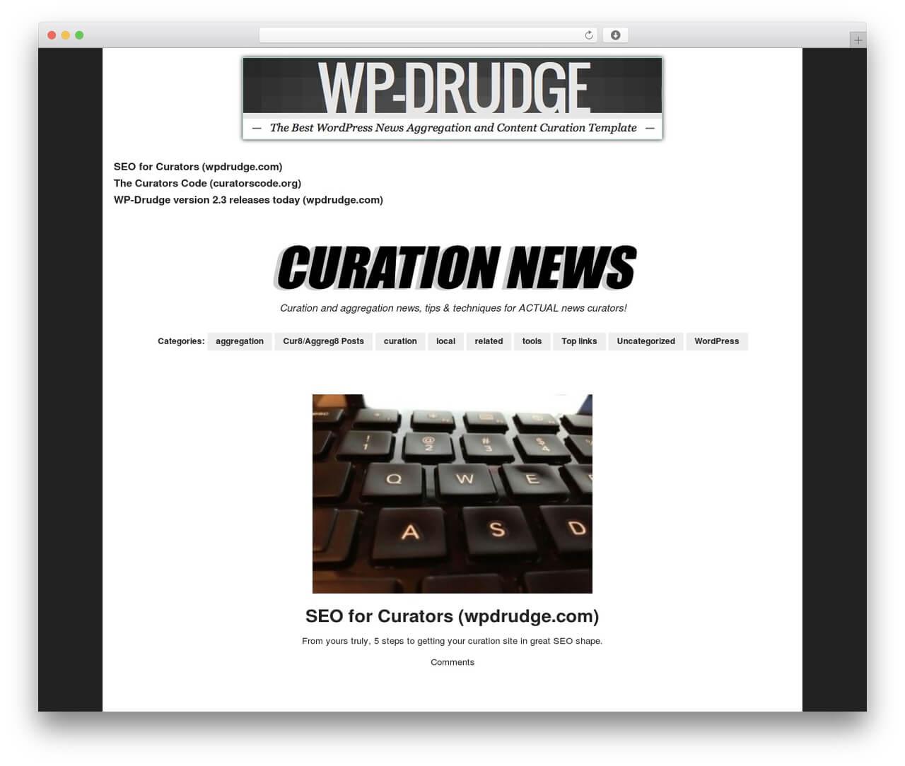 Wp-Drudge Wordpress Themeproper Web Development - Demo inside Drudge Report Template
