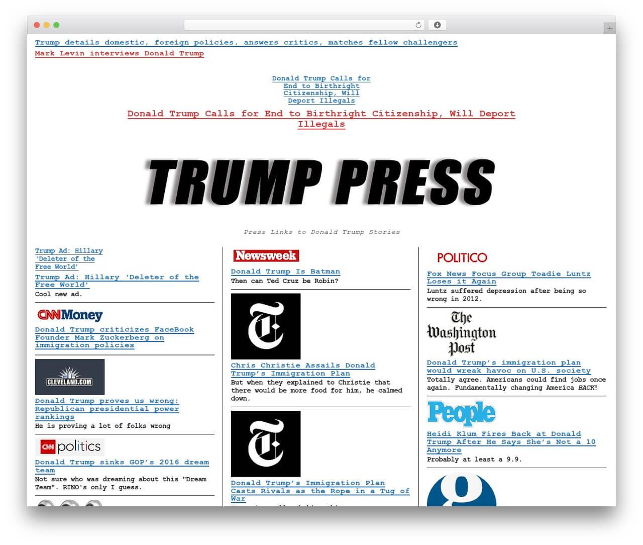 Wp Template Wp Drudgeproper Web Development - Trump.press With Regard To Drudge Report Template