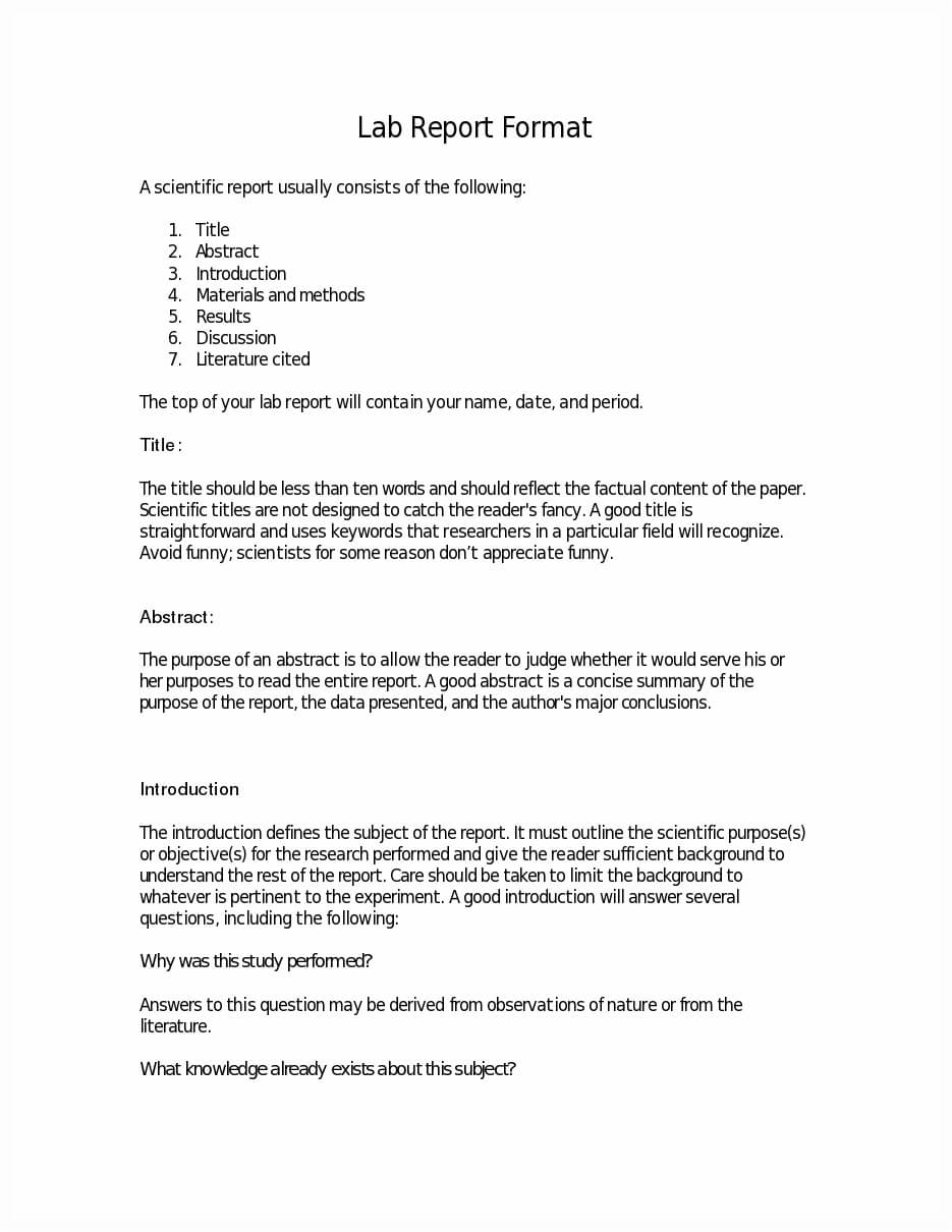 Write Lab Report - Paper Writing Service, Get Custom Paper. with regard to Lab Report Template Word