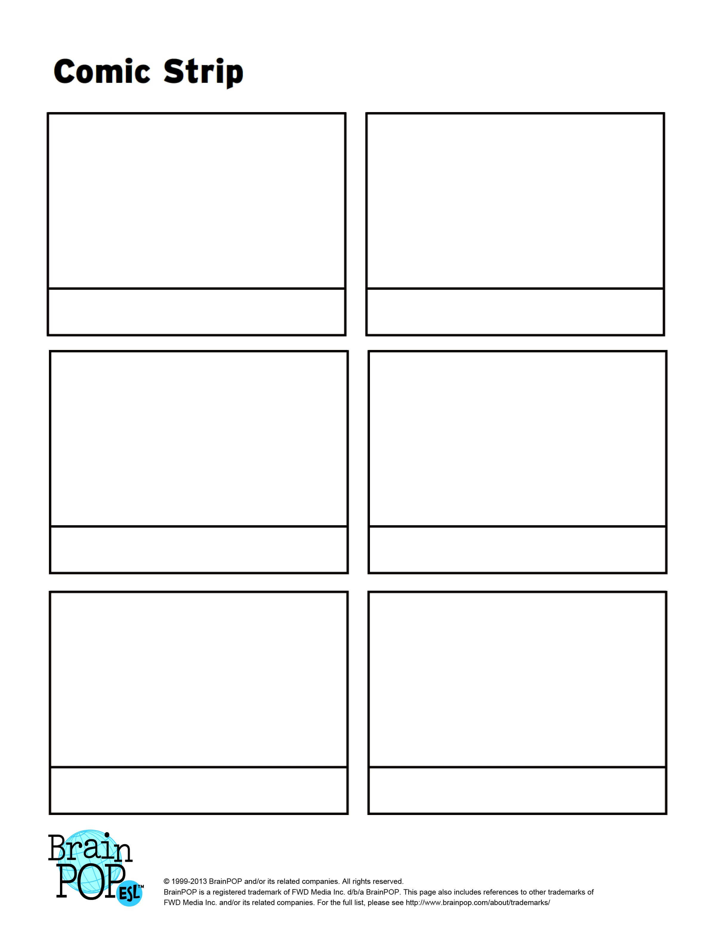 Write, Sequence And Illustrate A Story Using This Blank In Printable Blank Comic Strip Template For Kids