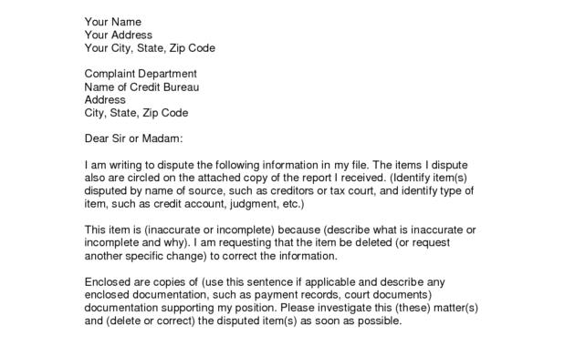 Writing Dispute Letter Format | Credit Bureaus, Lettering inside Credit Report Dispute Letter Template
