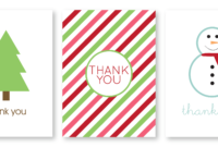 Writing Thank You Cards   Madebycristinamarie for Christmas Thank You Card Templates Free