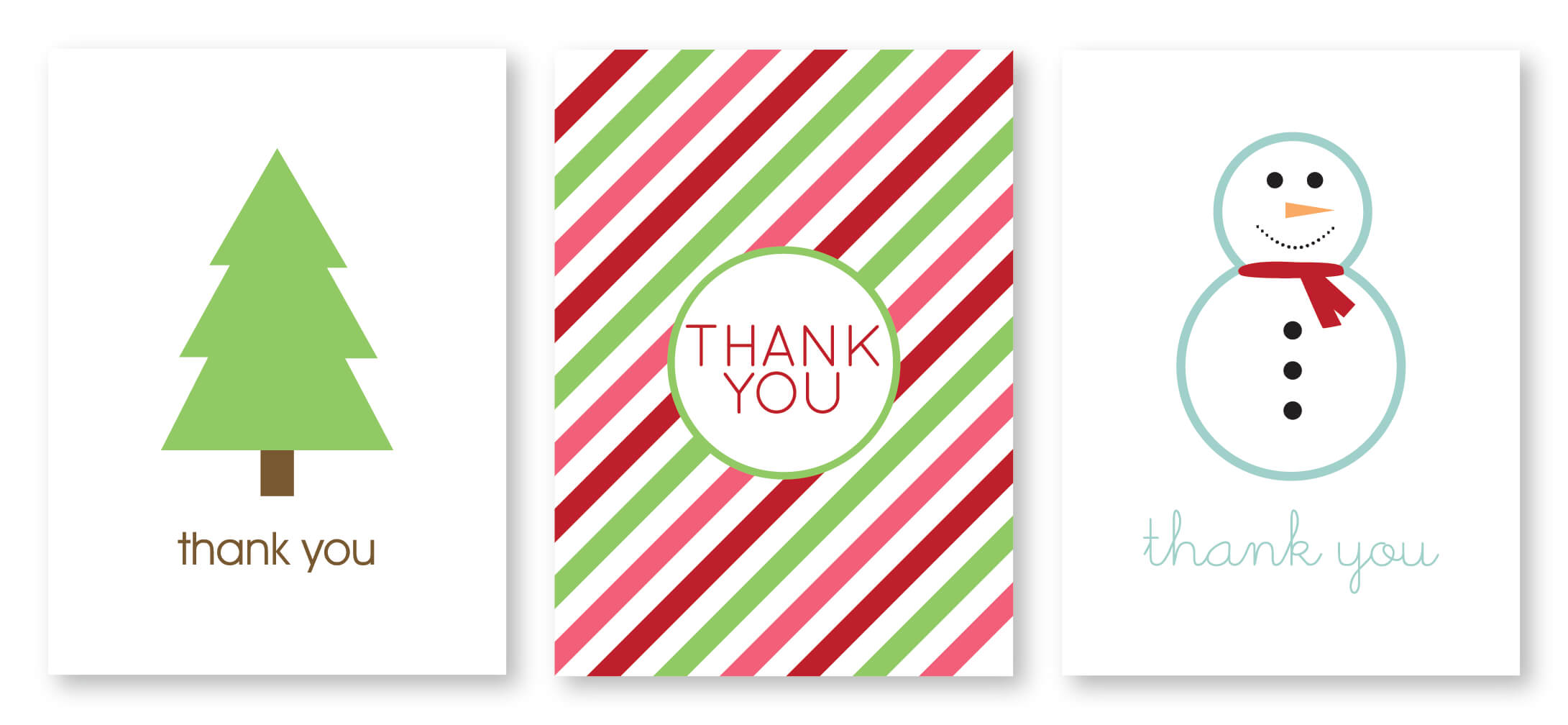 Writing Thank You Cards | Madebycristinamarie for Christmas Thank You Card Templates Free