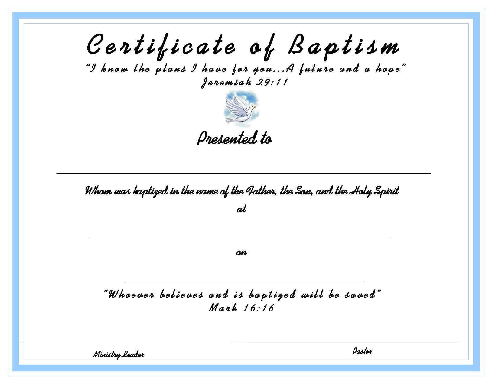 Www.certificatetemplate-Baptism Certificate For Your intended for Baby Christening Certificate Template
