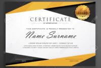 Yellow And Black Geometric Certificate Award Design Template with regard to Award Certificate Design Template