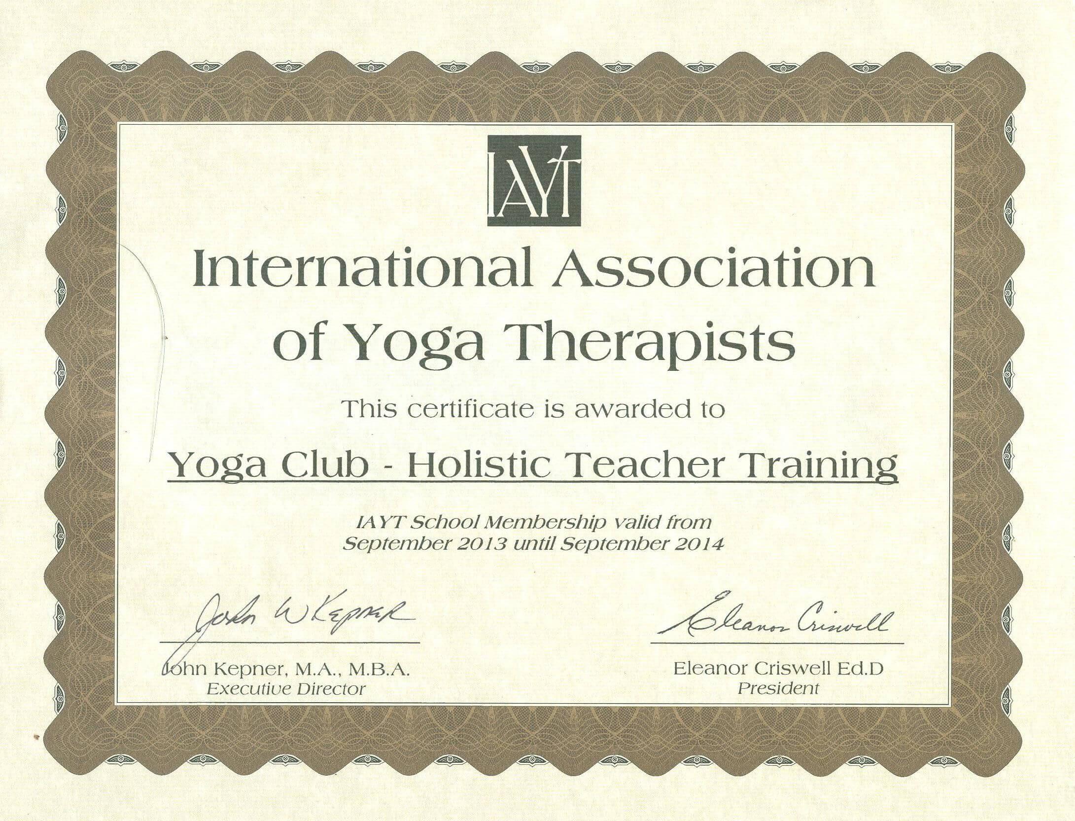 Yoga Alliance Teacher Training Certificate Template Learn regarding Life Saving Award Certificate Template