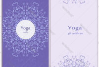 Yoga Gift Certificate Template Vector Image with Yoga Gift Certificate Template Free