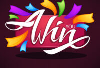 You Win Congratulation Banner Template With for Congratulations Banner Template
