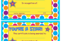 You're A Star End Of The Year Certificates | End Of The with regard to Star Award Certificate Template