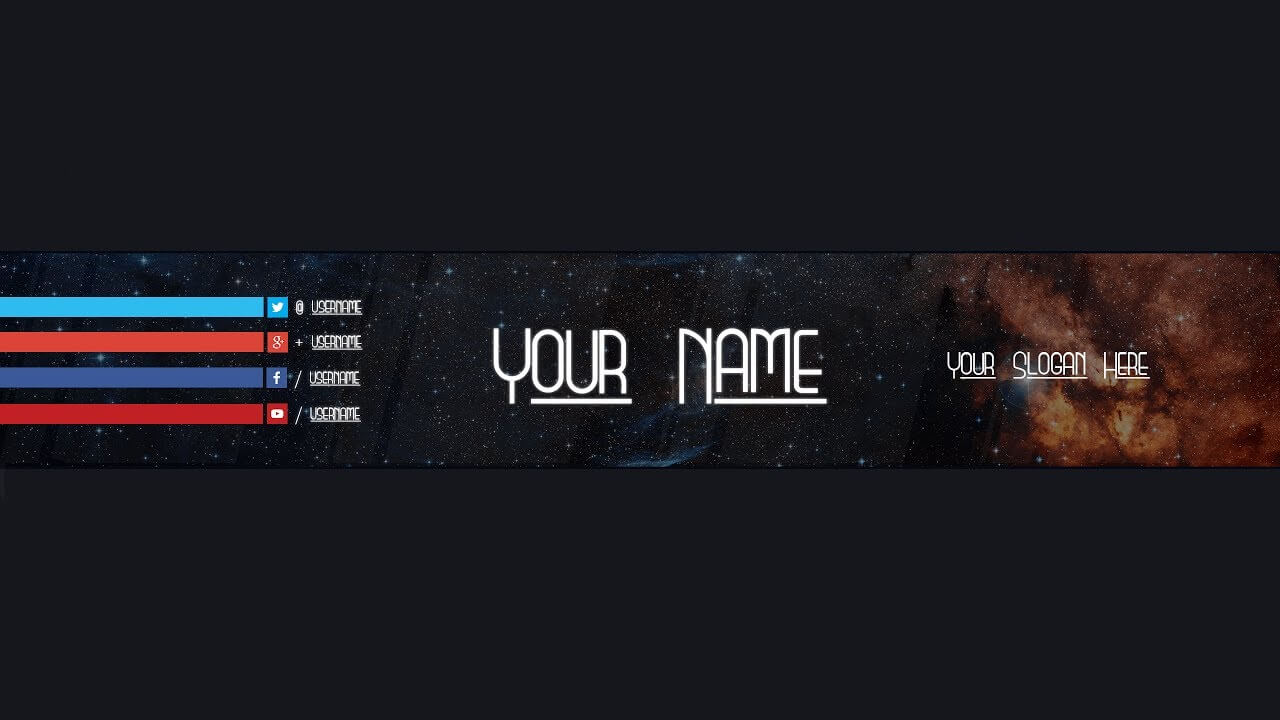 Youtube Banner Template #18 (Adobe Photoshop) – Youtube Inside Adobe Photoshop Banner Templates