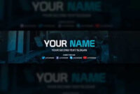 Youtube Banner Template – Free Download (Psd) within Youtube Banners Template