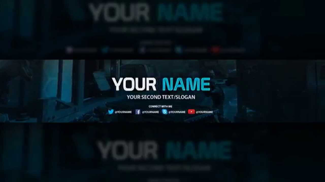 Youtube Banner Template - Free Download (Psd) within Youtube Banners Template