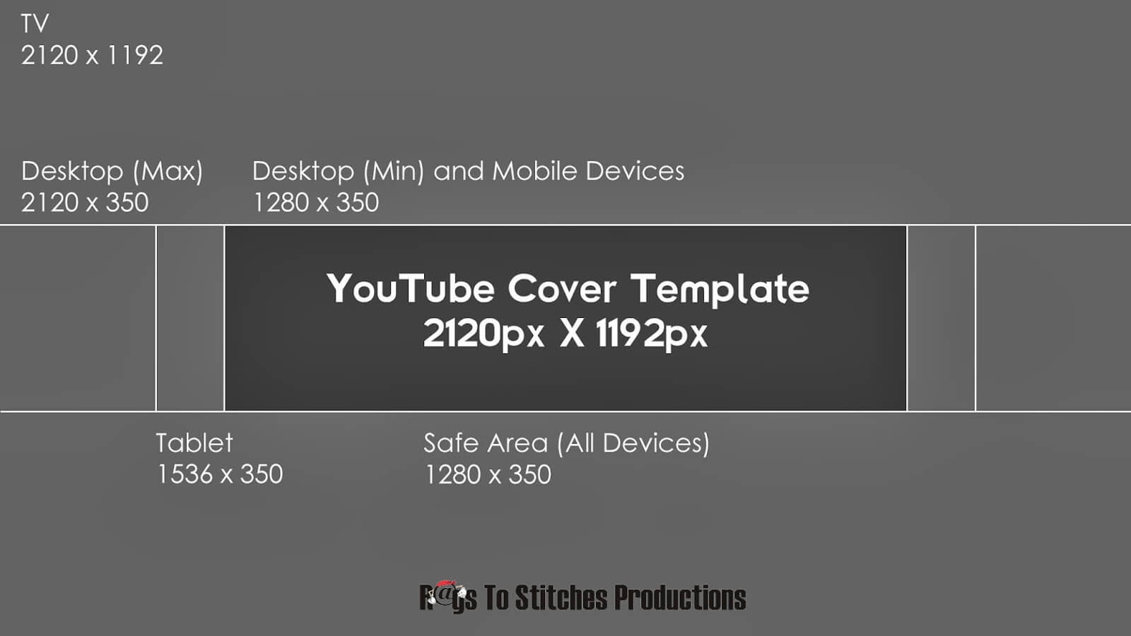 Youtube Banner Template Size In Youtube Banner Template Size
