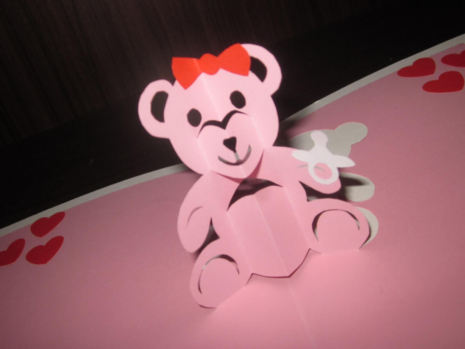Yuenie's Fancies - Handmade Quilled Pop Up Cards, Bookmarks for Teddy Bear Pop Up Card Template Free