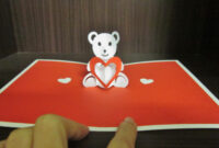 Yuenie's Fancies – Handmade Quilled Pop Up Cards, Bookmarks in Teddy Bear Pop Up Card Template Free