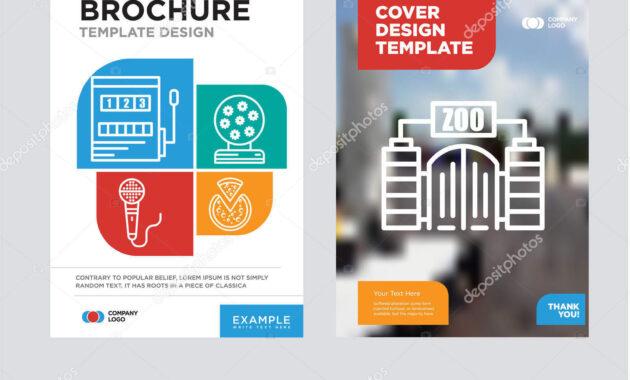 Zoo Brochure Flyer Design Template — Stock Vector regarding Zoo Brochure Template