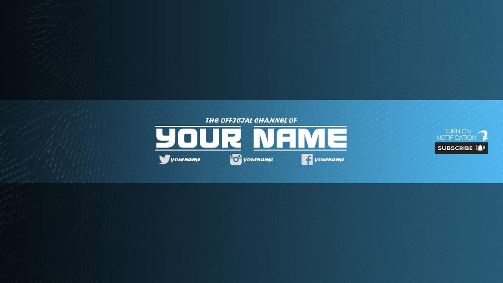 Zuhair Baloch: Free Youtube Banner Template #33 Download Now regarding Youtube Banners Template